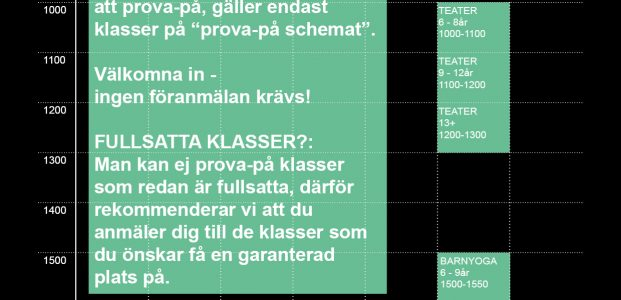 Schema PROVA PÅ V.36